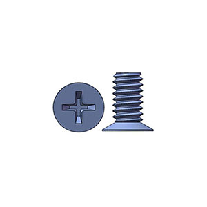 M2 X 4 mm  Flat Head 120° Phillips Machine Screw Steel Zinc Plated