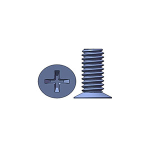 M2 X 5 mm  Flat Head 120° Phillips Machine Screw Steel Zinc Plated
